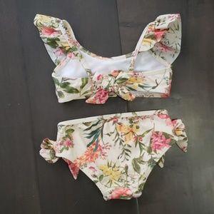 Jessica Simpson Swim - LIKE NEW Baby Floral Bow Bikini 24m